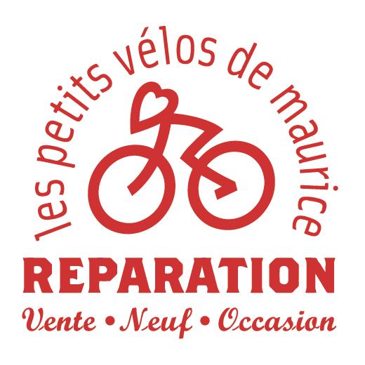 Logo Les Petits Vélos de Maurice rouge sur fond blanc