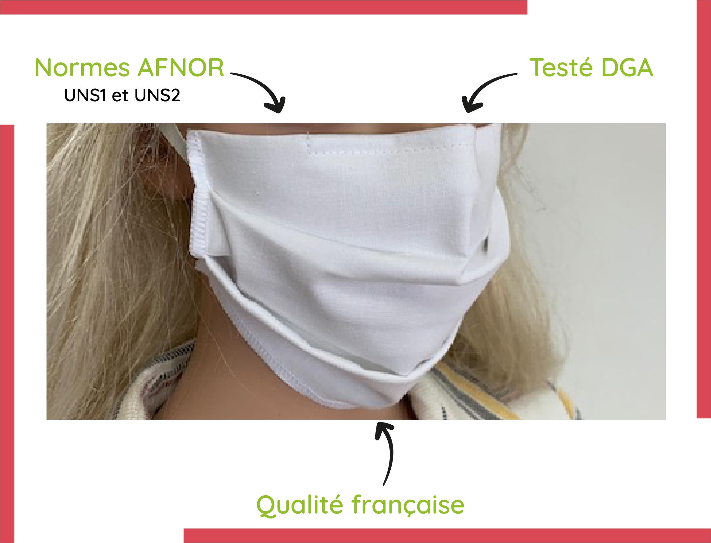 masque en ligne UNS1 et UNS2