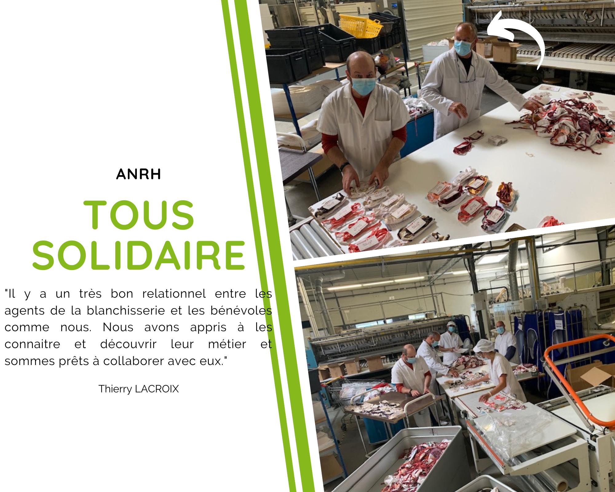 Solidarité avec la ville de Blois et citation d'un bénévole