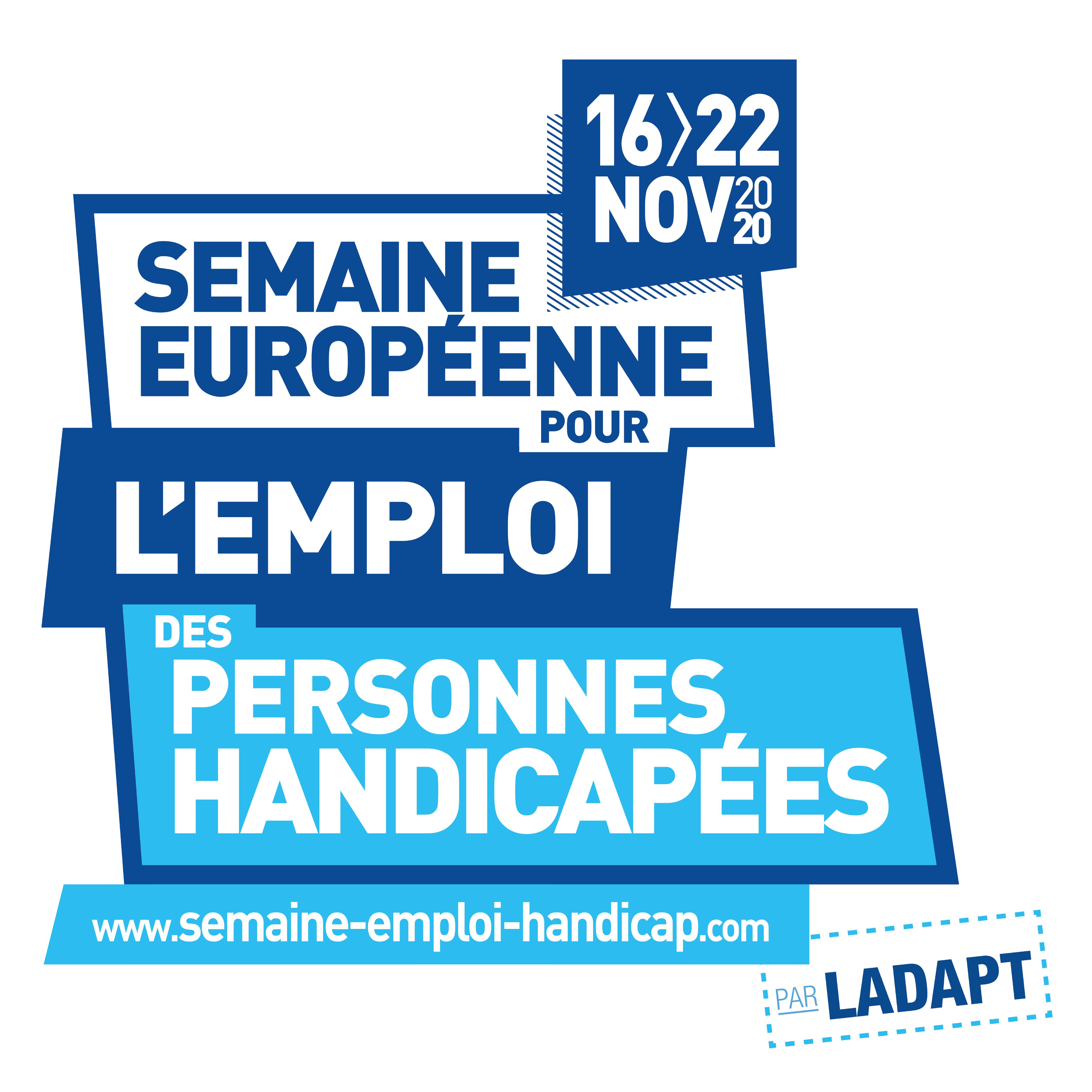 Semaine Européenne pour l'Emploi des Personnes Handicapées édition 2020
